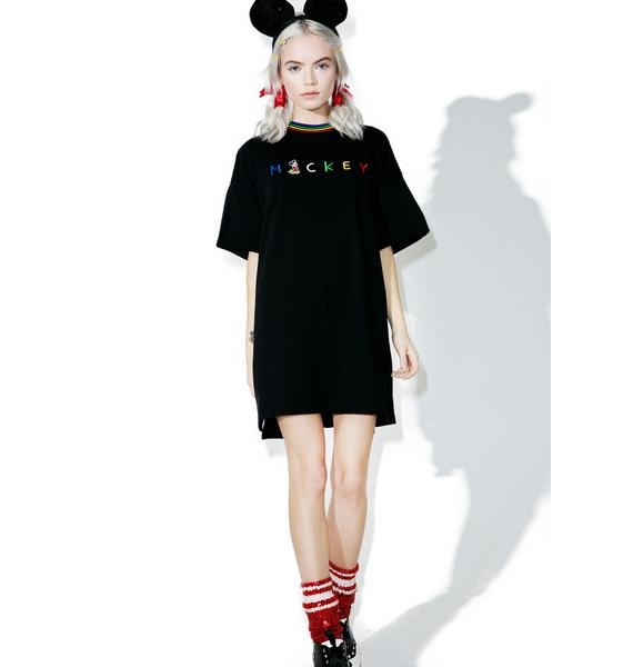 Lazy Oaf X Disney Mickey Mouse Slogan Tee