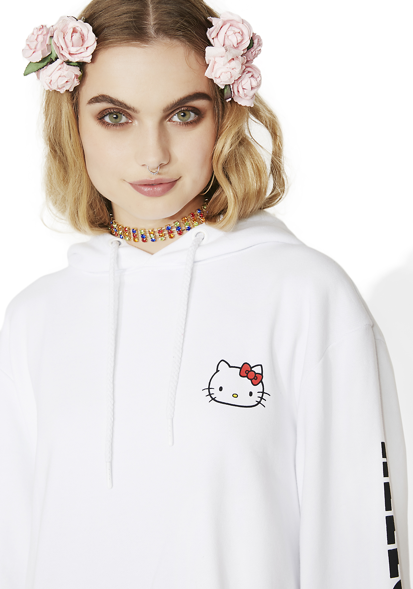 Lazy Oaf Hello Kitty Oversized Hoodie