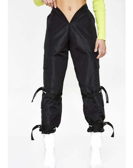 V Cut Strap Slush Pants