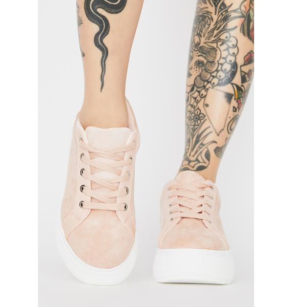 Rebels Blush Bree Platform Sneakers