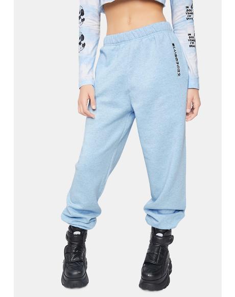 Blue Kanji Jogger Sweatpants