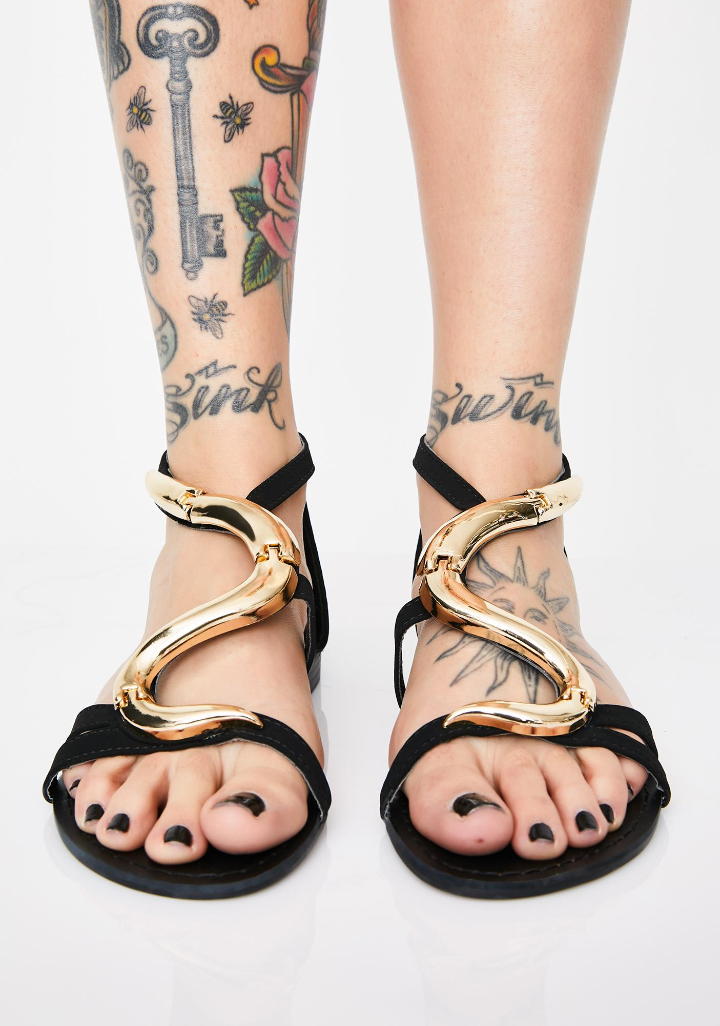 AZALEA WANG Tonight We Are Victorious Snake Sandals