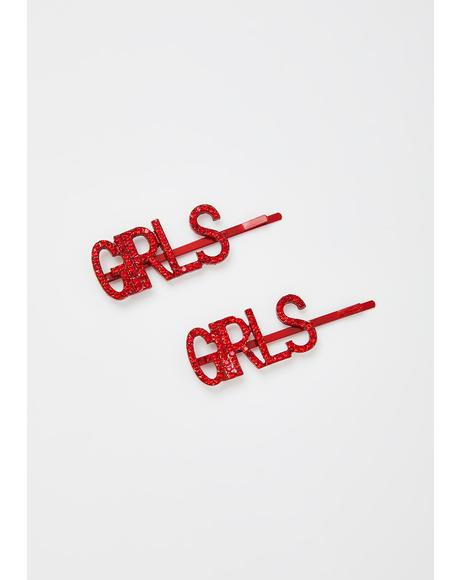 Girls Need Love Hair Clip Set