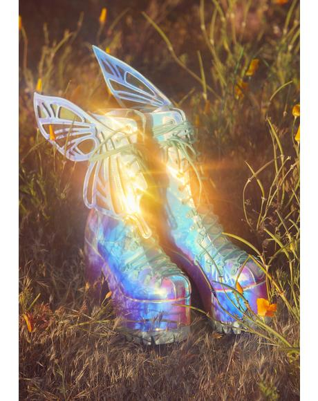 Wings To Fly Holographic Boots