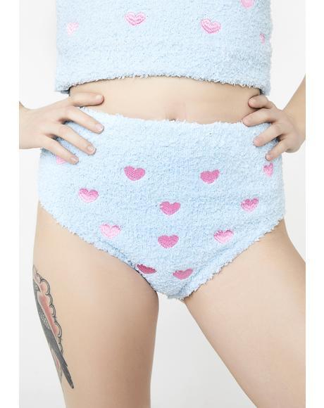 Heart Of Hearts Fuzzy Shorts