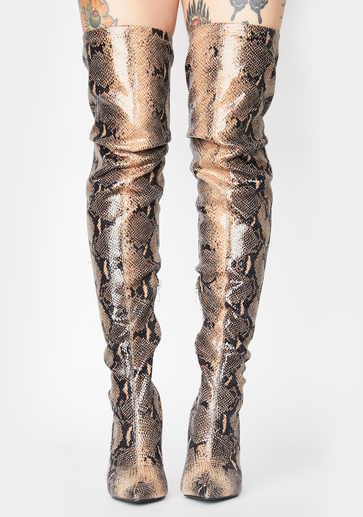 Public Desire Kimana Over The Knee Boots
