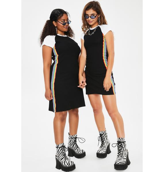 dELiA*s by Dolls Kill Our Lips Are Sealed Mini Dress