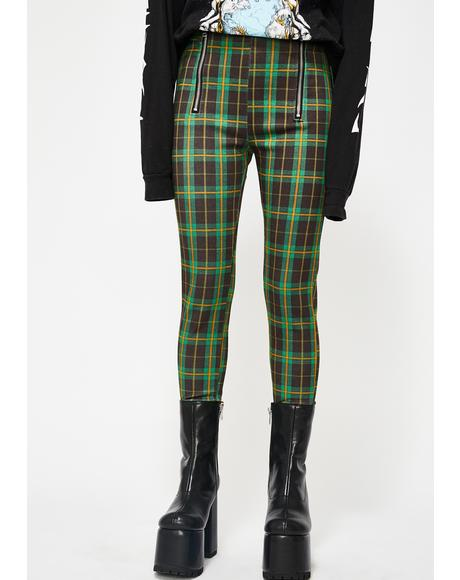 Riot Reputation Plaid Leggings