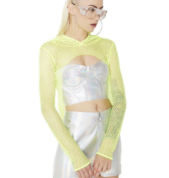 Slater Neon Fishnet Hoodie