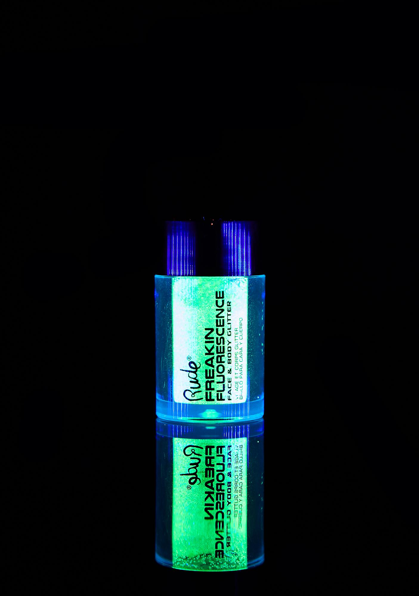 Rude Cosmetics Freakin Fluorescence Rave Wave UV Glitter