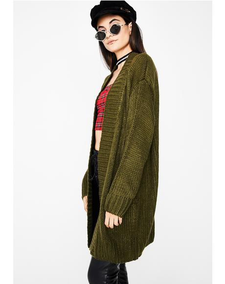 Olive Left Em At Red Cardigan