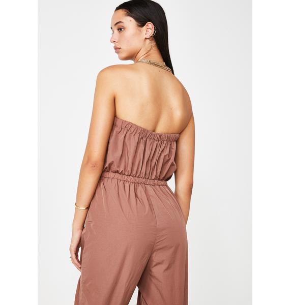 Be About It Strapless Jumpsuit