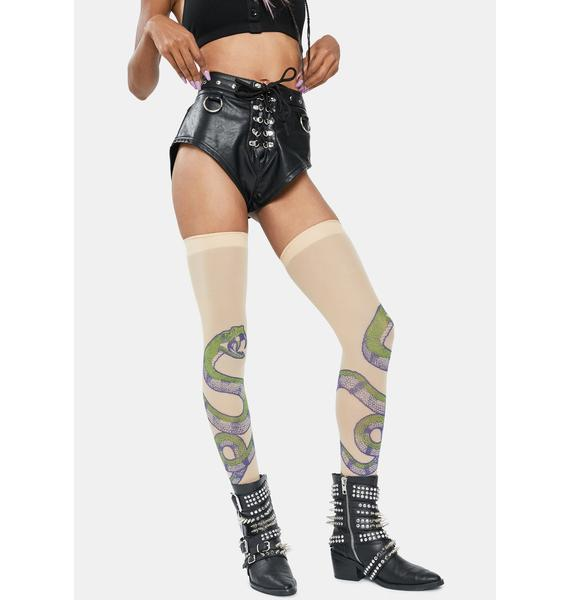 Pick Your Poison Snake Thigh High Stockings