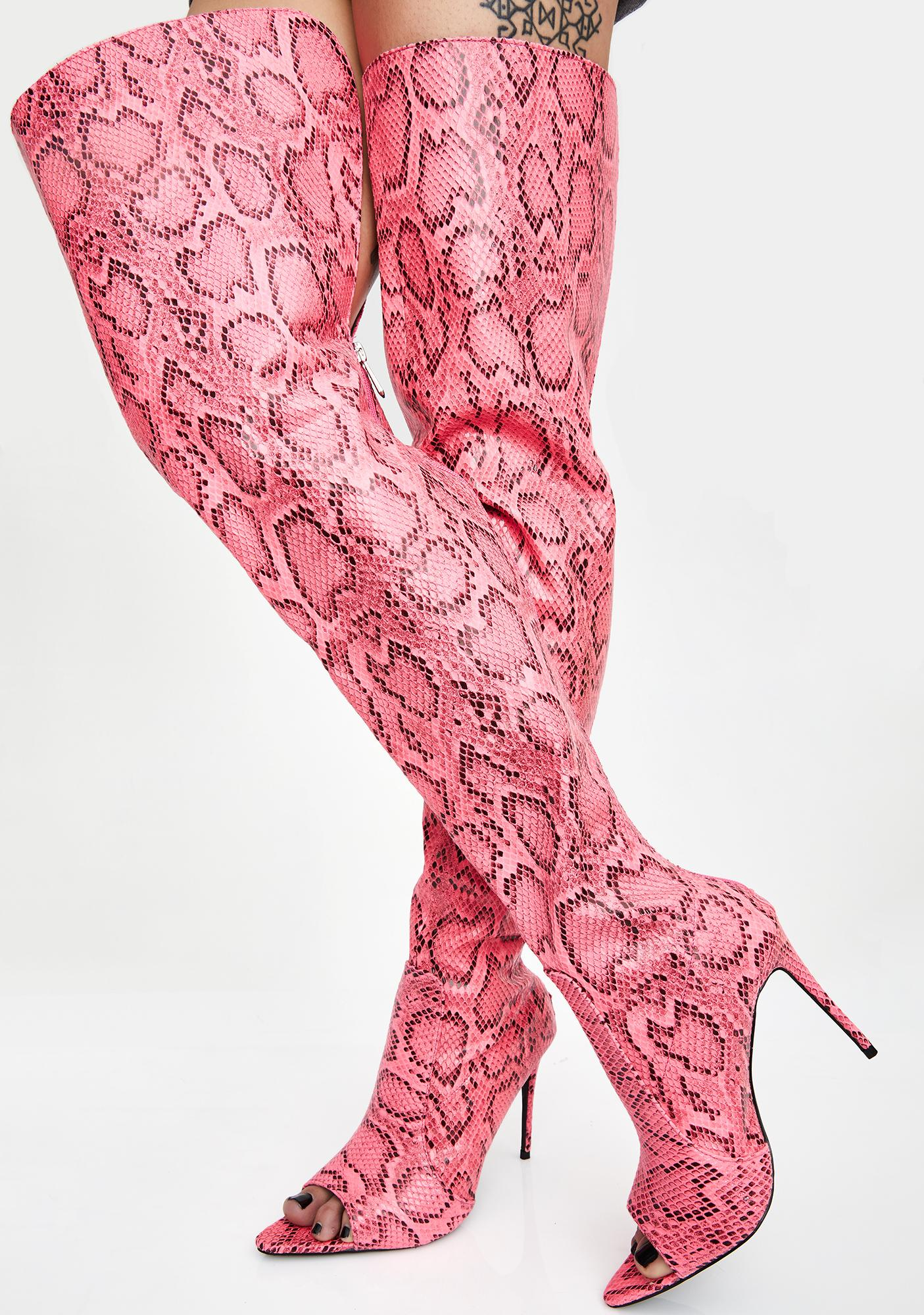 Pixie Toxic Heart Thigh High Boots