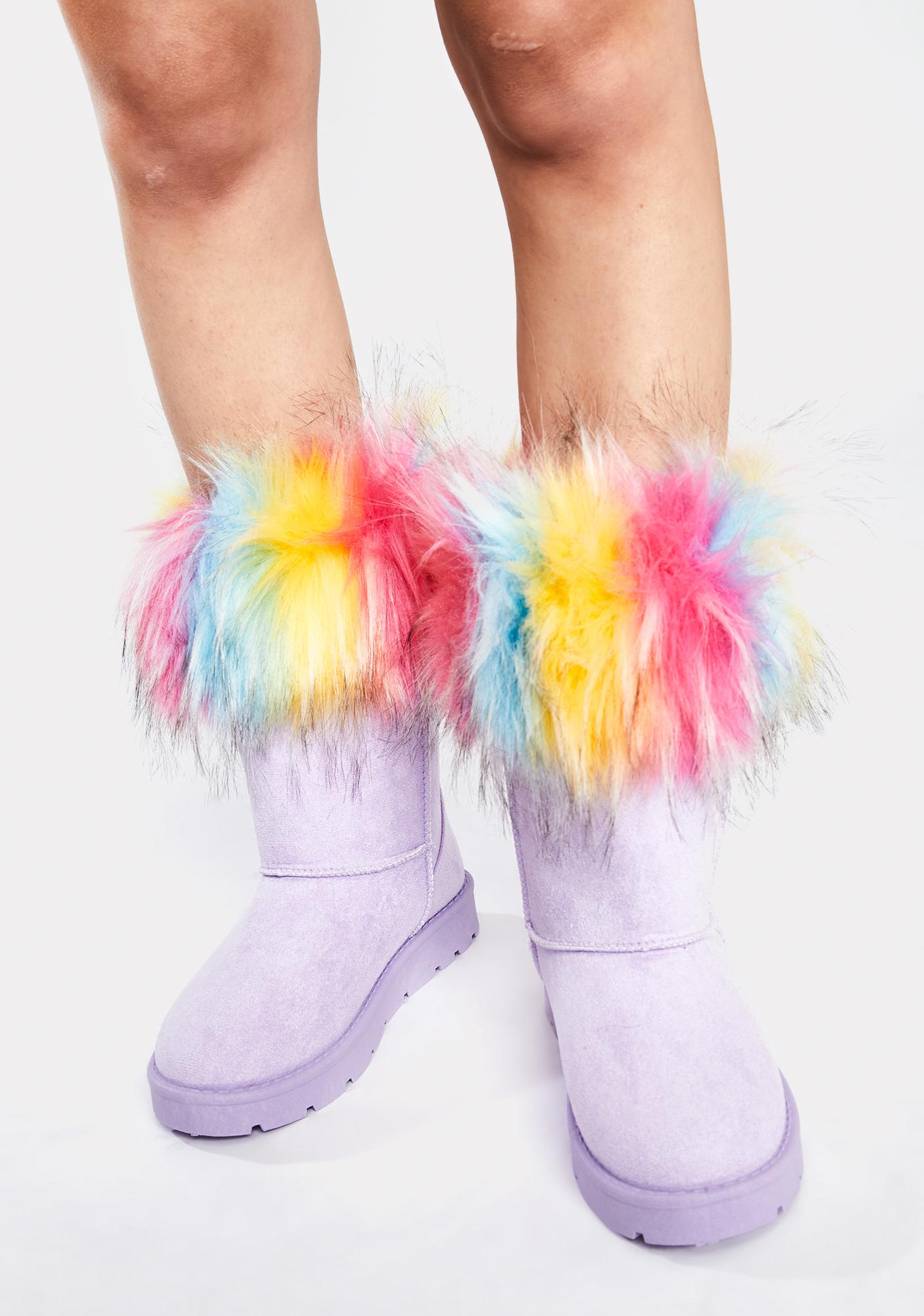 You're Getting Warmer Faux Fur Boots