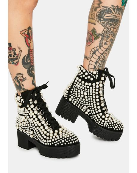 Cavalier Pearl Bubble Ankle Boots