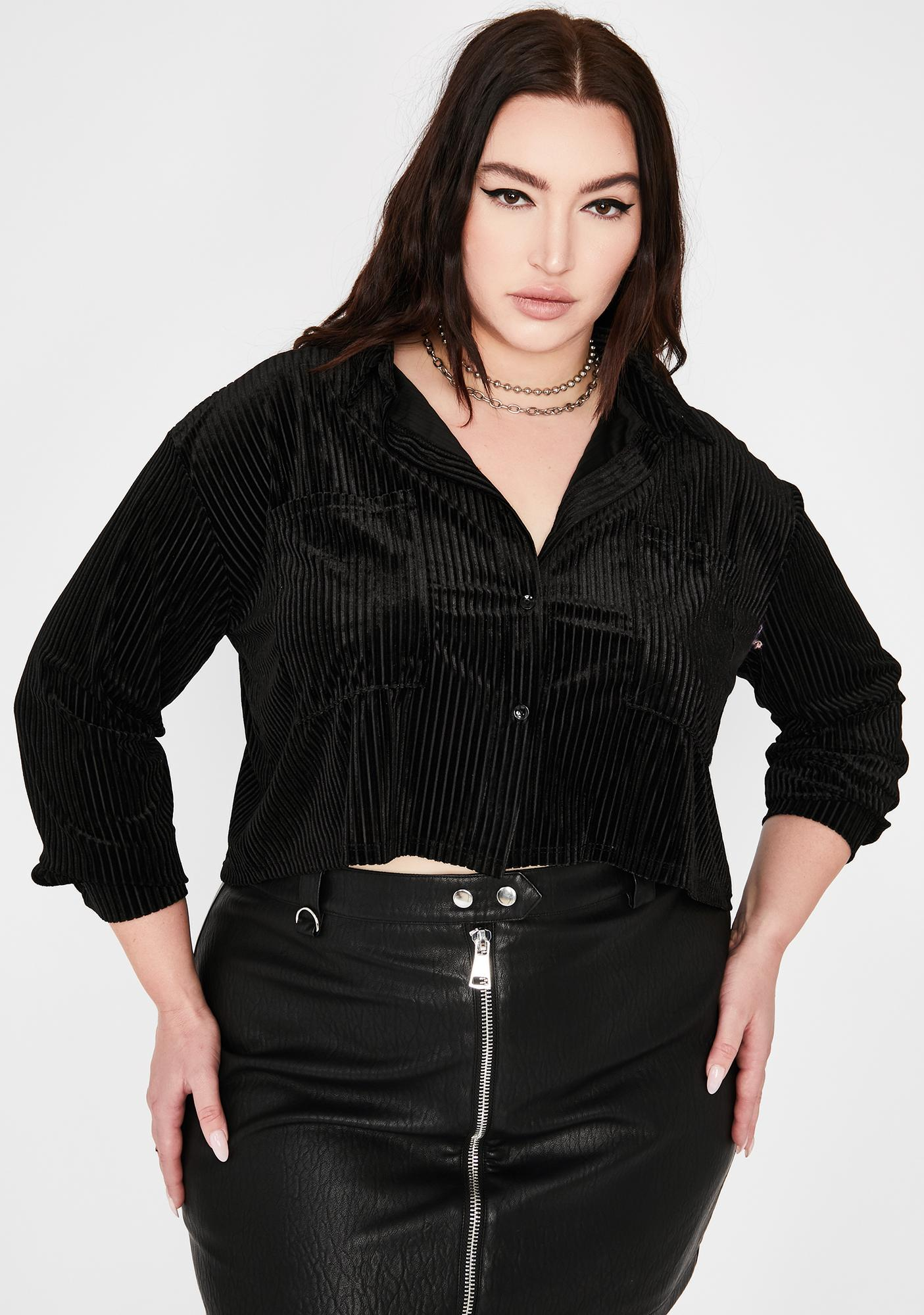 Bae Borderline Obsessed Velvet Top
