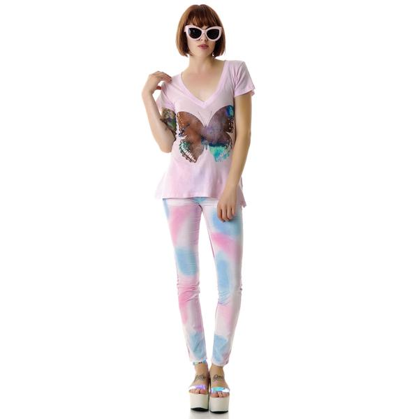 Wildfox Couture Galaxy Butterfly Classic V-Neck