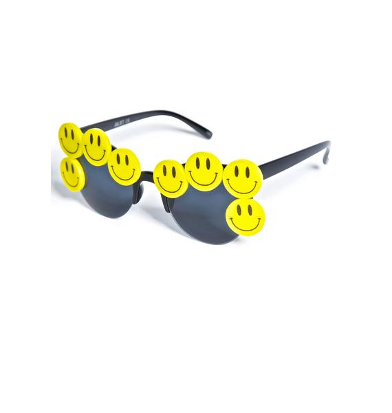 Gasoline Glamour Coco Smiley Sunglasses