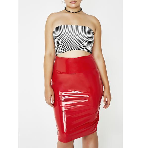 Never Loved Us PVC Pencil Skirt