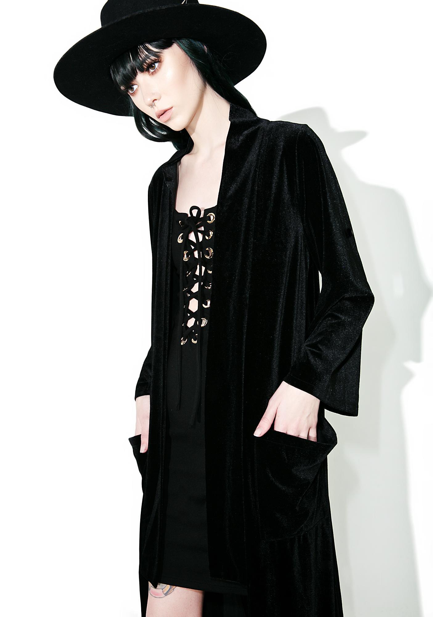 Coven Goddess Velvet Kimono