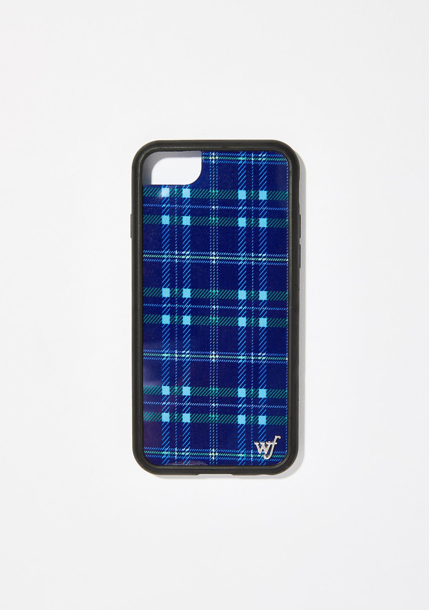 quite nice 79b24 881f4 Blue Plaid iPhone Case