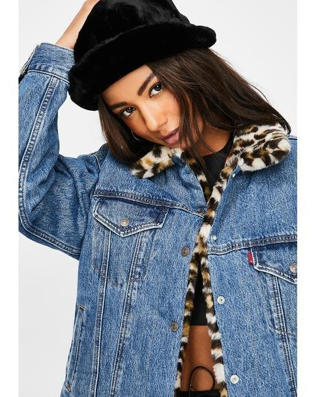 Cat Eye Reversible Dad Trucker Jacket