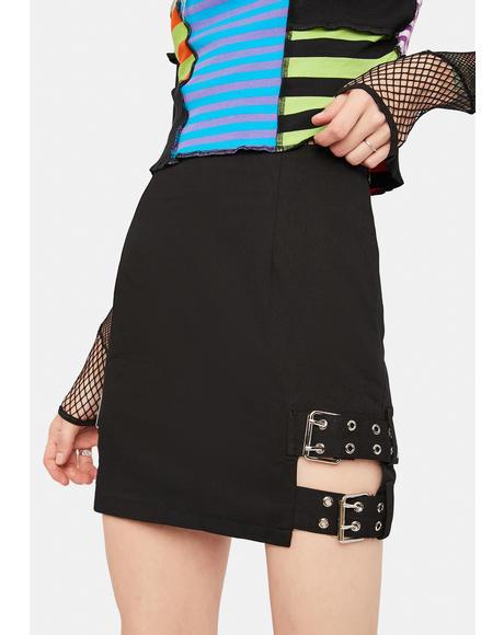 Truth Buckle Mini Skirt