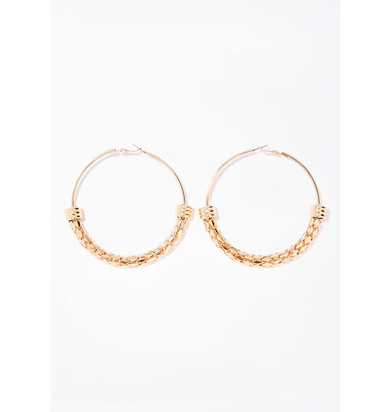 Thugalicious Encased Hoop Earrings