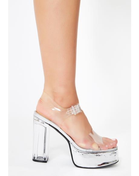 I Want It All Clear Heels