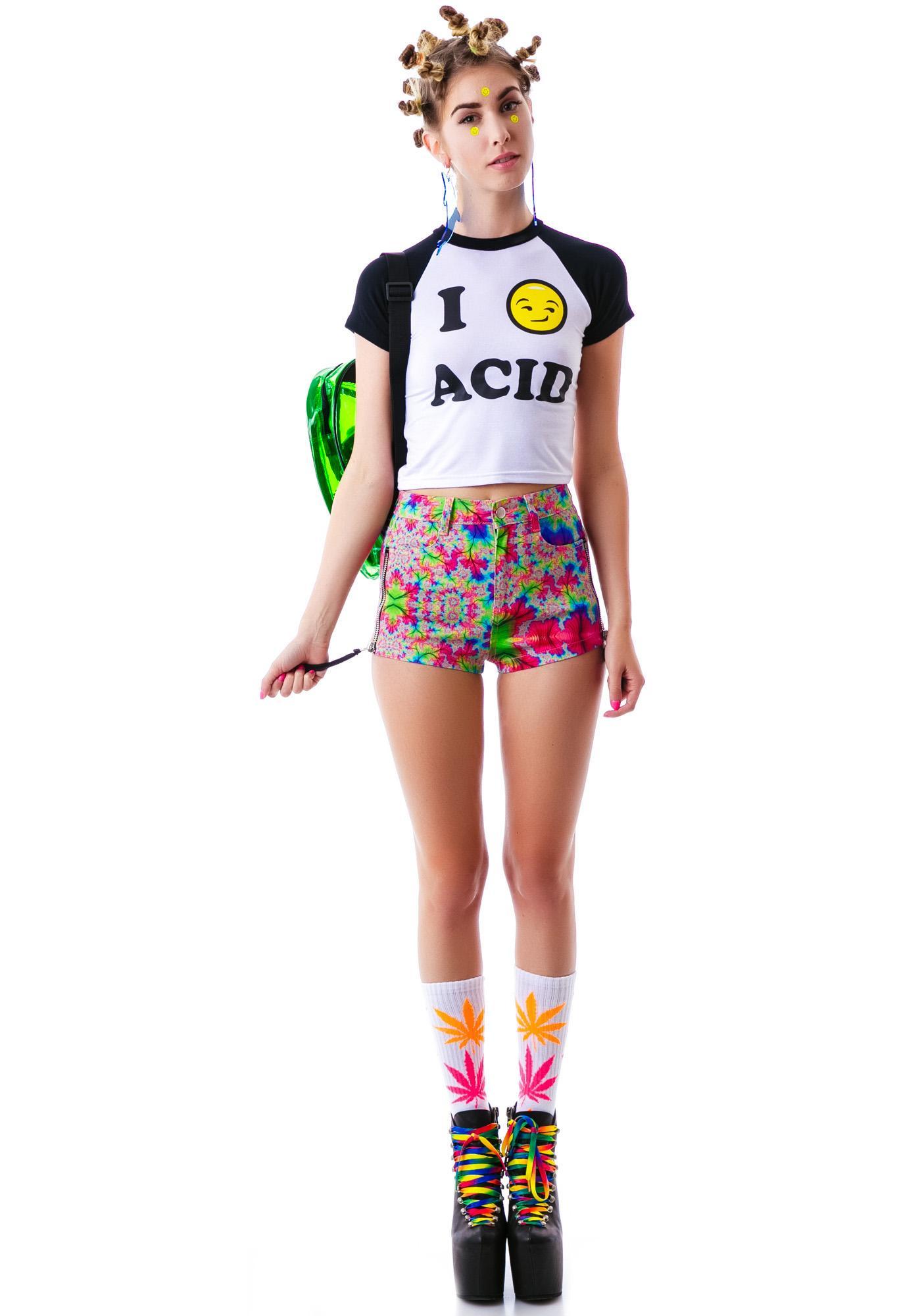 O Mighty Me Feelz 4 Acid Smiley Tee