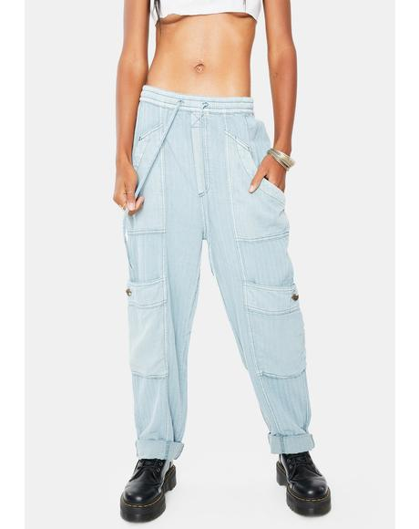 Feelin Good Utility Pull On Pants