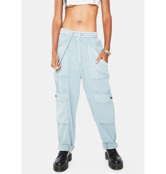 Free People Feelin Good Utility Pull On Pants
