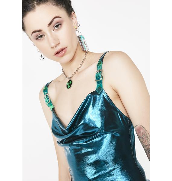 Current Mood Electric Aphrodite Metallic Dress