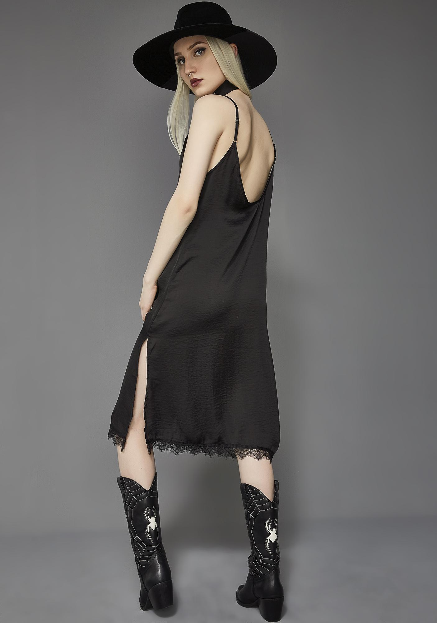 Death Wish Slip Dress by Widow