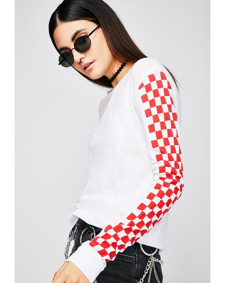 Ice Think Fast Checkered Top