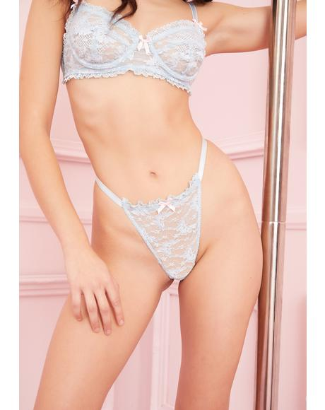 Bonbon Kisses Lace Thong
