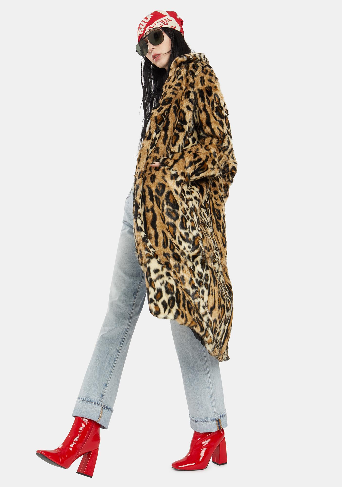 Free People Chloe Leopard Duster