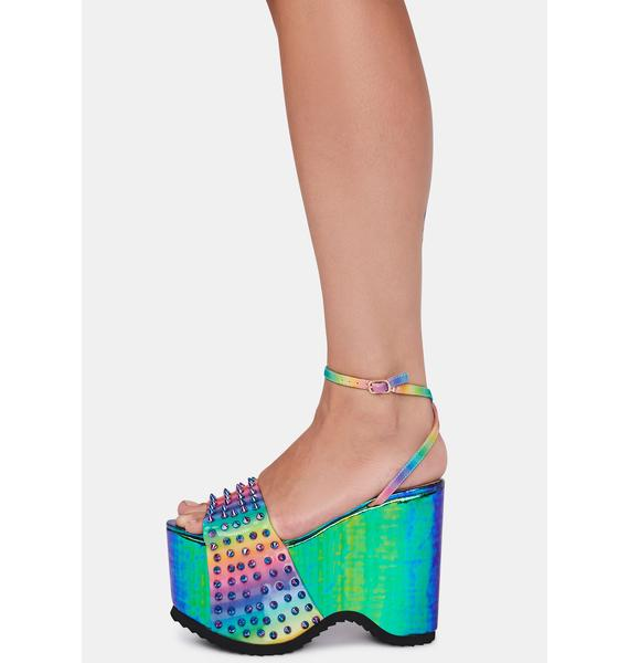 Lemon Drop by Privileged Areal Studded Platforms