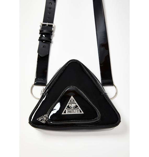 Disturbia Ternary Patent Crossbody Bag