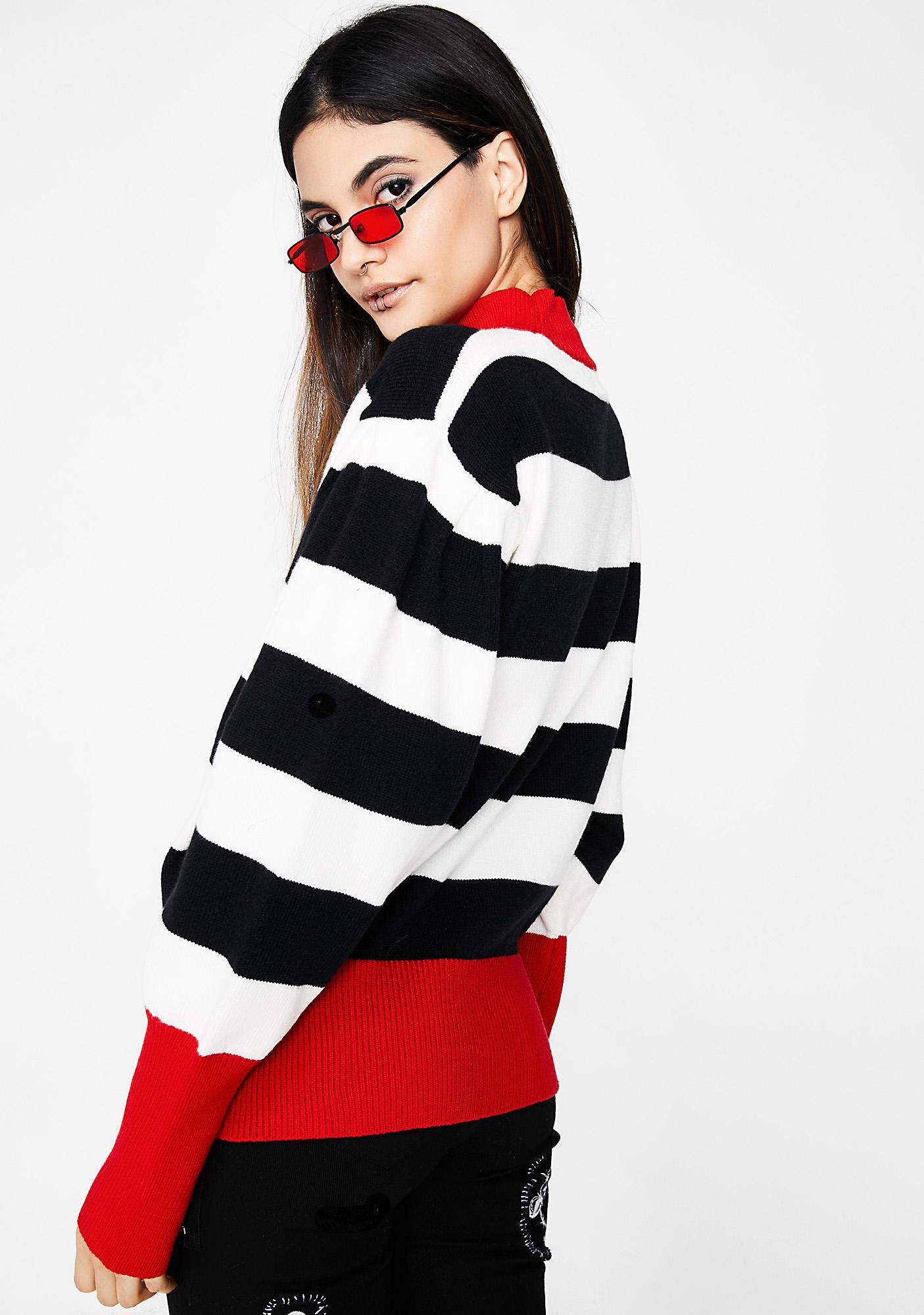 Cool With It Stripe Sweater