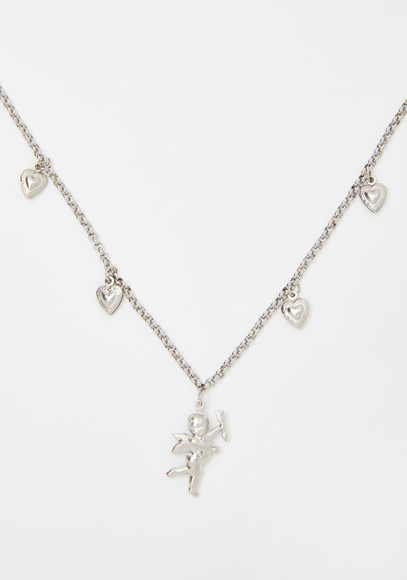 Cupid's Spell Charm Necklace