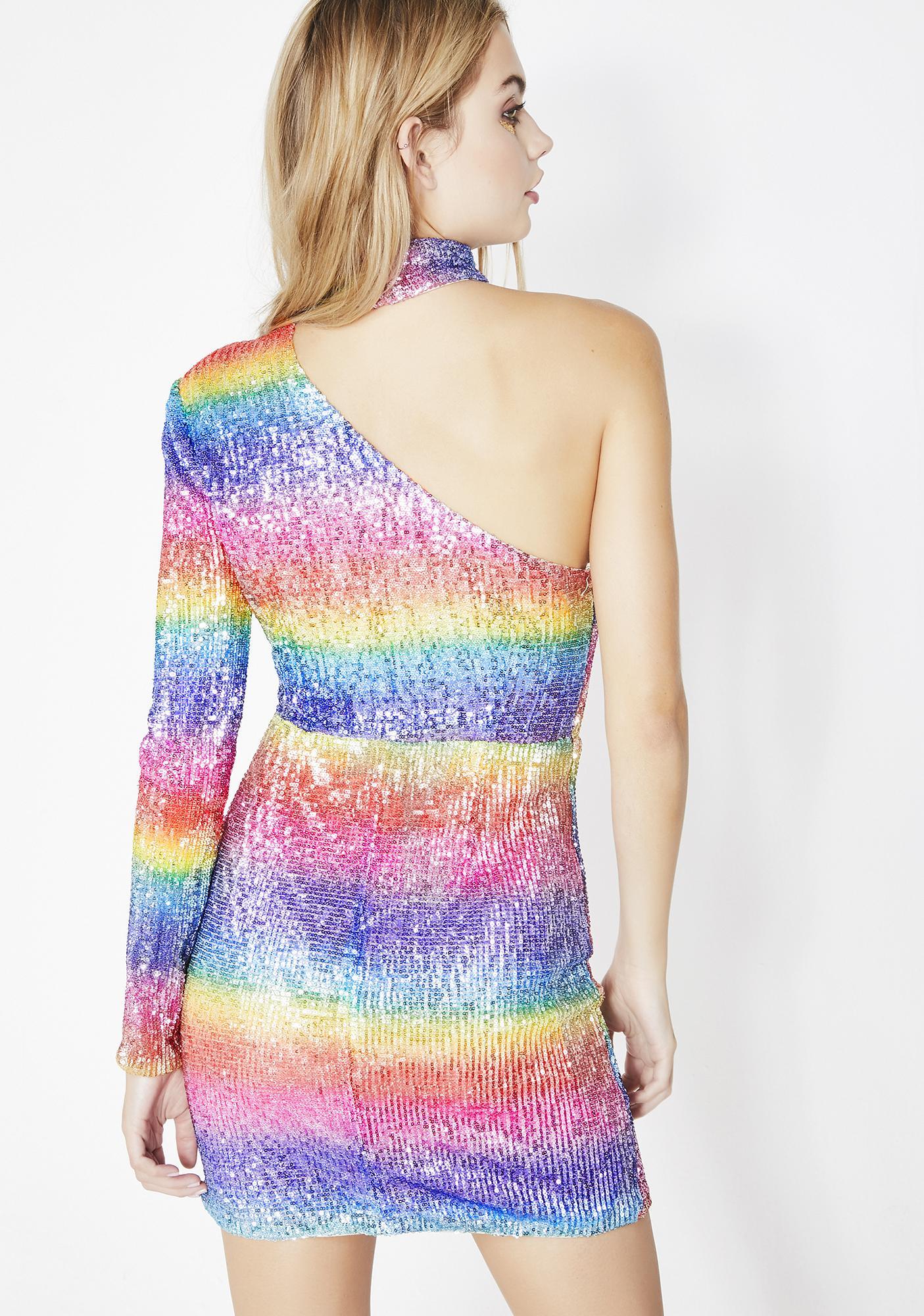 Rainbow Dream Girl Sequin Dress