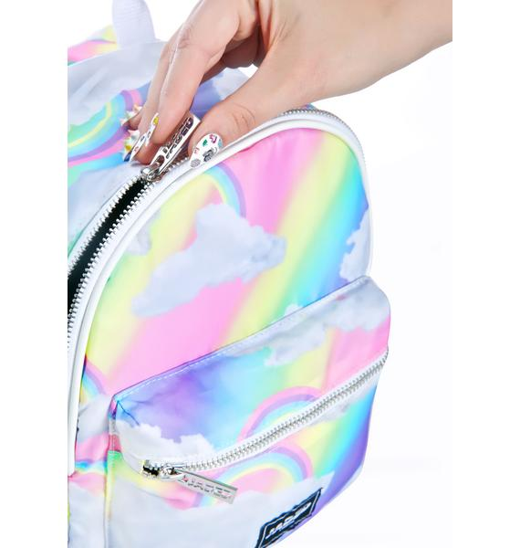 Jaded London Rainbow Cloud Backpack