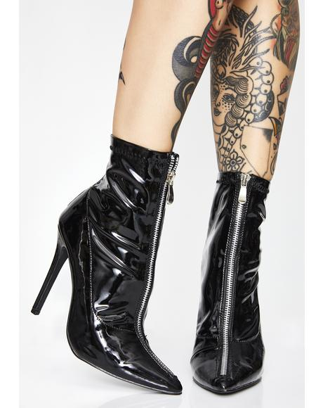 Bright Lights Patent Boots
