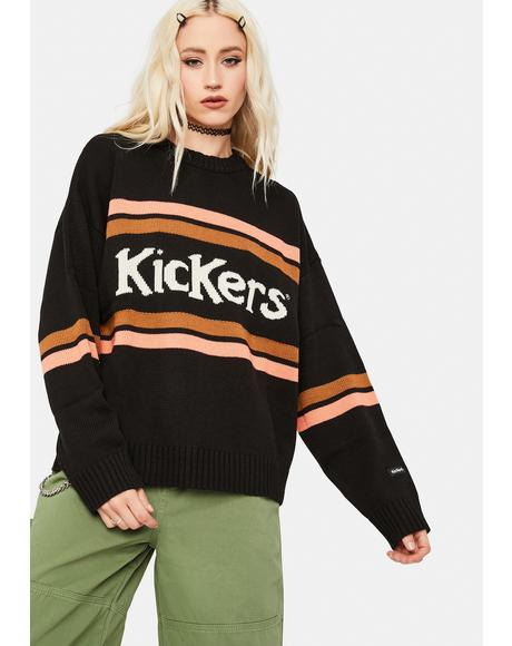 Kickers Stripe Oversized Knitted Sweater