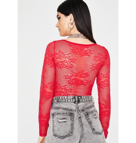 Hottie Keep It Kinky Lace Bodysuit