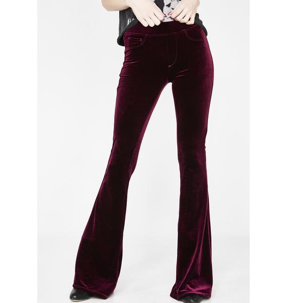 Blank NYC Velvet Flare Pants
