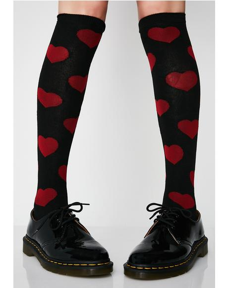 Be Mine 4eva Knee High Socks