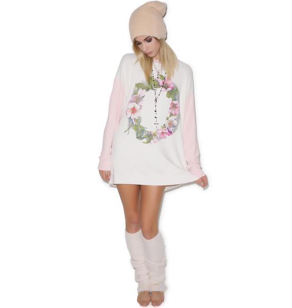 Wildfox Couture Flower Wreath Roadtrip Sweater